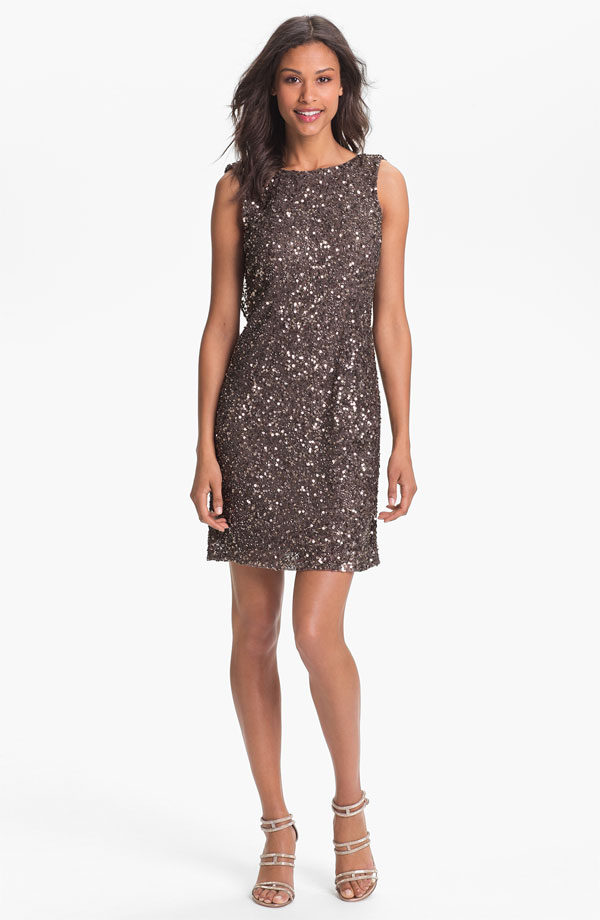 Pisarro Nights Drape Back Sequin Dress